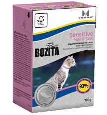Bozita Cat Tetra Recart Feline Hair & Skin 190g