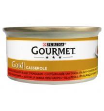 Gourmet Gold Wołowina i kurczak w sosie pomidorowym 85g