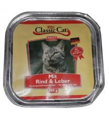 Classic Cat Adult Wołowina i wątróbka tacka 100g