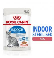 Royal Canin Indoor Sterilised karma mokra dla kotów dorosłych sterylizowanych, przebywających w domu saszetka 85g