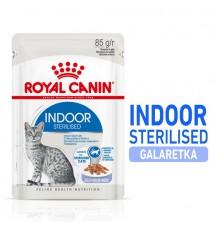 Royal Canin Indoor Sterilised Jelly karma mokra dla kotów dorosłych sterylizowanych, przebywających w domu saszetka 85g