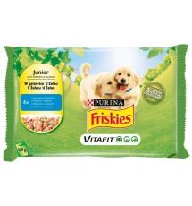 Friskies Dog Junior Kurczak i groszek w galaretce saszetki 4x100g