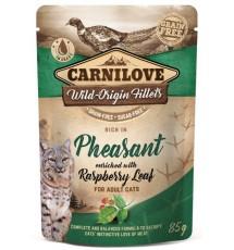 Carnilove Cat Pheasant & Raspberry Leaves - bażant i liście maliny saszetka 85g