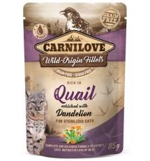 Carnilove Cat Quail & Dandelion Sterilised - przepiórka i mniszek saszetka 85g