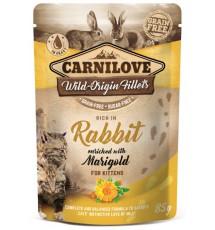 Carnilove Cat Rabbit & Marigold Kitten - królik i nagietek saszetka 85g