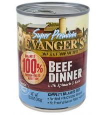 Evanger's Super Premium For Dogs Wołowina w sosie puszka 362g