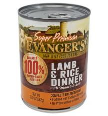 Evanger's Super Premium For Dogs Jagnięcina i ryż puszka 362g