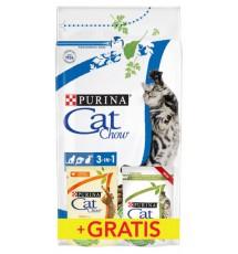 Purina Cat Chow 3in1 z indykiem 1,5kg + saszetki 2x85g gratis
