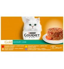 Gourmet Gold Mix Wołowina/Kurczak/Indyk/Jagnięcina 4x85g