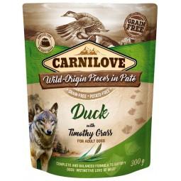 Carnilove Dog Duck & Timothy Grass - kaczka i tymotka łąkowa saszetka 300g