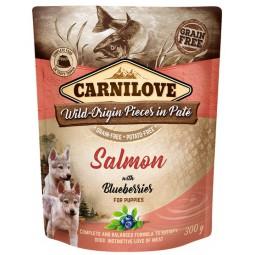 Carnilove Dog Salmon & Blueberries for Puppies - łosoś i jagody saszetka 300g