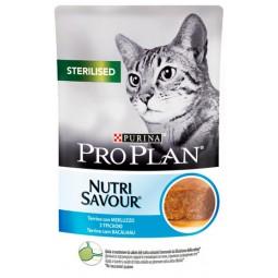 Purina Pro Plan Cat Sterilised dorsz saszetka 85g