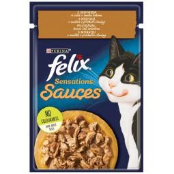 Felix Sensations Sauces Surprise Indyk w sosie bekonowym saszetka 85g