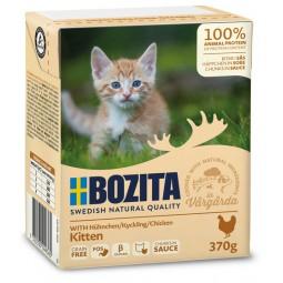 Bozita z Kurczakiem dla kociąt - kawałki w sosie kartonik 370g