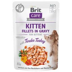 Brit Care Cat Fillets In Gravy Kitten Tender Turkey saszetka 85g